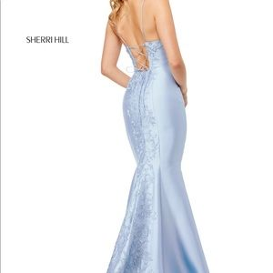 Sherri Hill Prom Dress Style 52545- Light Blue